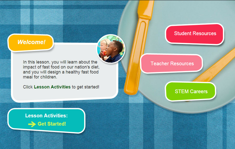 home page for Designing a Healthier, Happier Meal