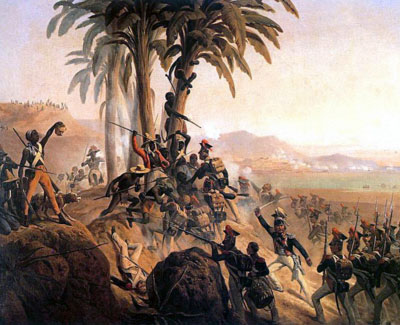 painting of Battle of San Domingo
