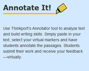 image of Annotator tools home page