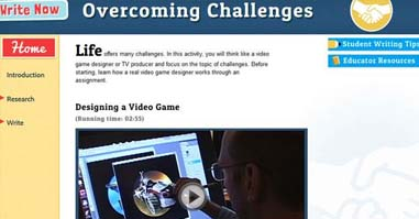 home page of Overcoming Challenges website