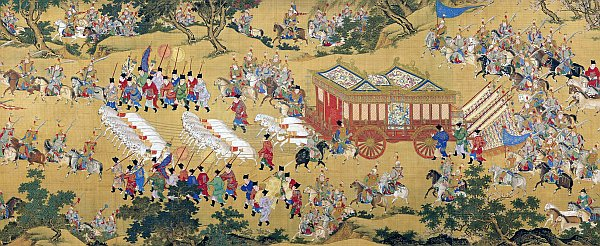 a Chinese emperor's procession