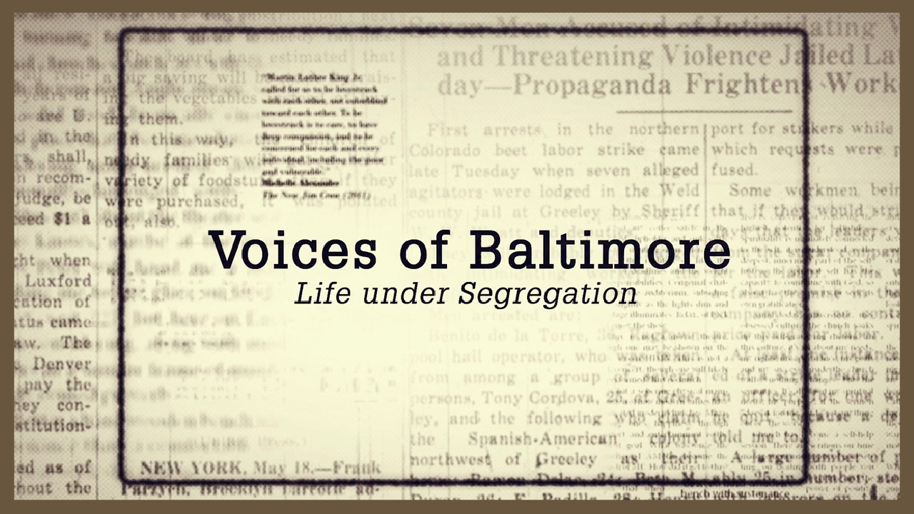 Voices of Baltimore title page